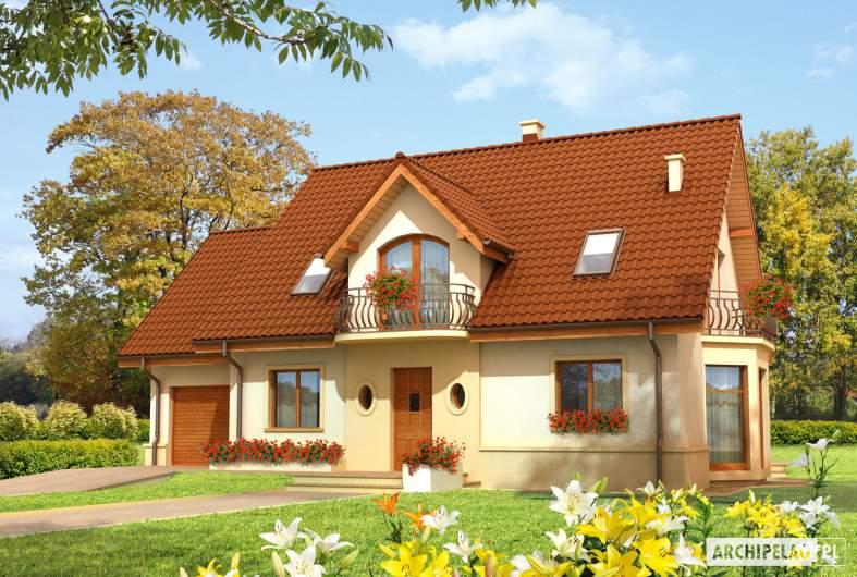 Projekt domu Kajka G1 Leca® DOM  - Projekty domów ARCHIPELAG - Kajka G1 - wizualizacja frontowa