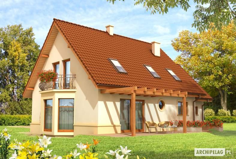 Projekt domu Kajka G1 Leca® DOM  - Projekty domów ARCHIPELAG - Kajka G1 - wizualizacja ogrodowa