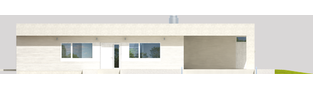 Projekt domu EX 6 (z wiatą) soft - elewacja frontowa