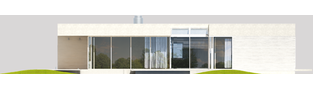 Projekt domu EX 6 (z wiatą) soft - elewacja tylna