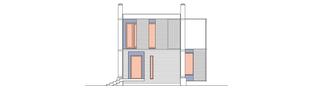 Projekt domu Loco - elewacja frontowa