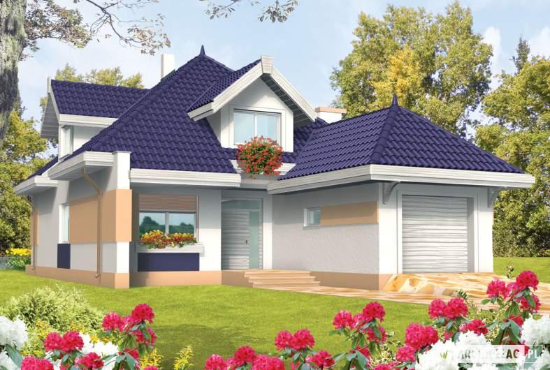 Projekt domu Merlin G1 - wizualizacja frontowa