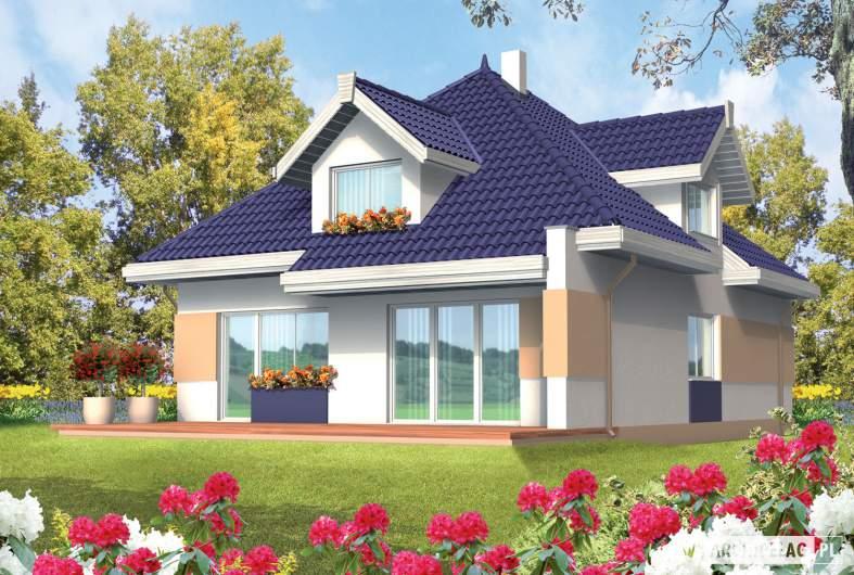 Projekt domu Merlin G1 - wizualizacja ogrodowa