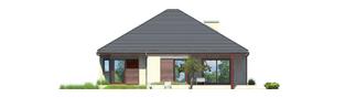 Projekt domu Dylan G1 - elewacja tylna