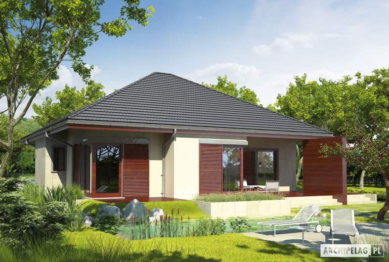 Projekt domu Dylan G1 - wizualizacja ogrodowa
