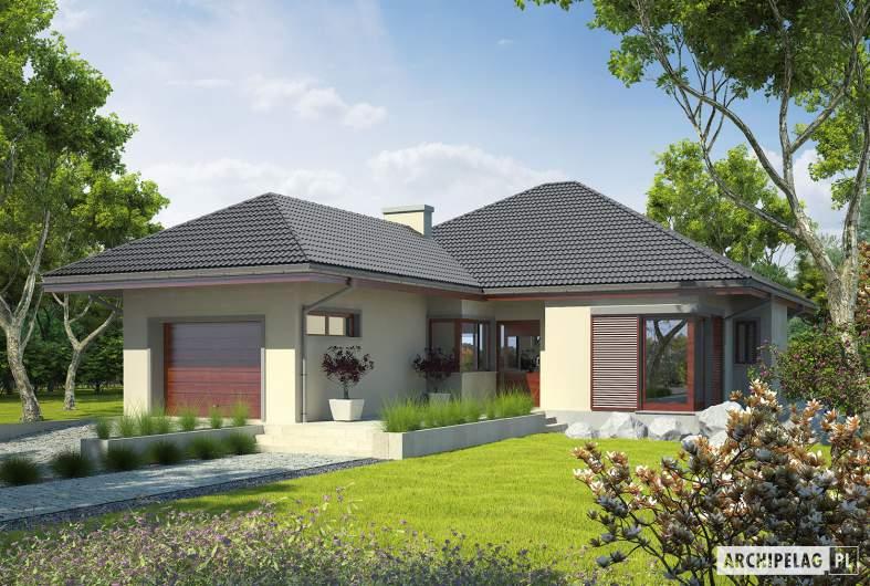 Projekt domu Dylan G1 - wizualizacja frontowa