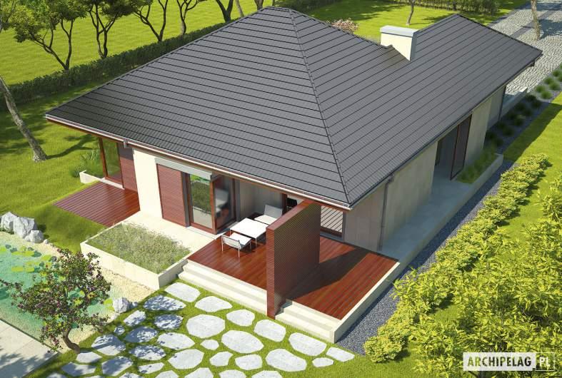 Projekt domu Dylan G1 - widok z góry