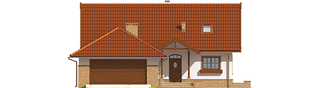 Projekt domu Lote II G2 - elewacja frontowa