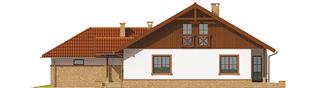Projekt domu Lote II G2 - elewacja prawa