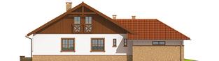 Projekt domu Lote II G2 - elewacja lewa