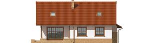 Projekt domu Lote II G2 - elewacja tylna