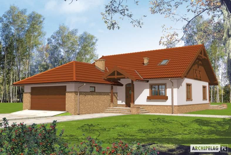 Projekt domu Lote II G2 - Projekty domów ARCHIPELAG - Lote II G2 - wizualizacja frontowa