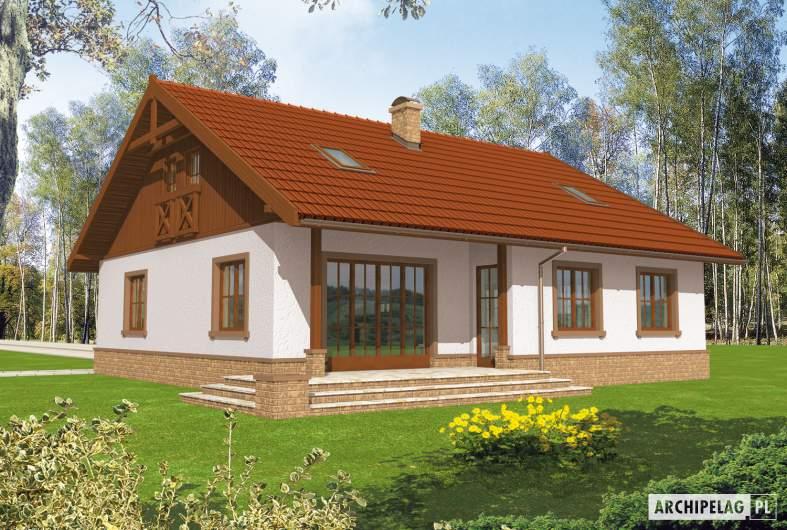 Projekt domu Lote II G2 - Projekty domów ARCHIPELAG - Lote II G2 - wizualizacja ogrodowa