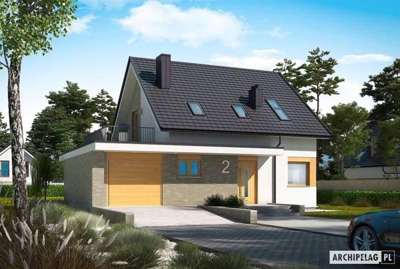 Projekt domu Mini 2 G1 - wizualizacja frontowa
