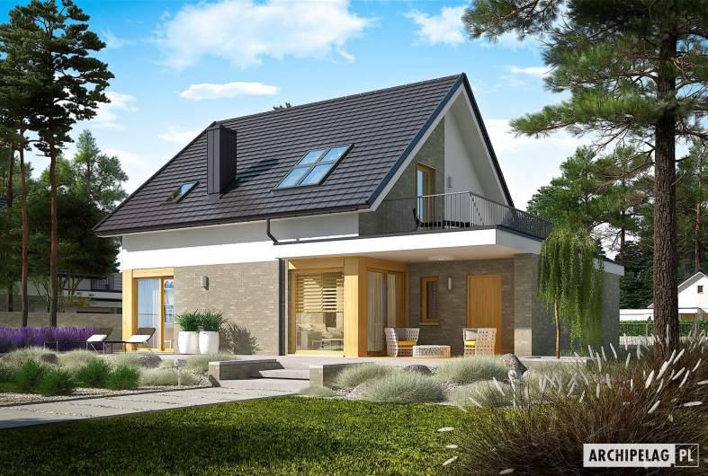 Projekt domu Mini 2 G1 - wizualizacja ogrodowa