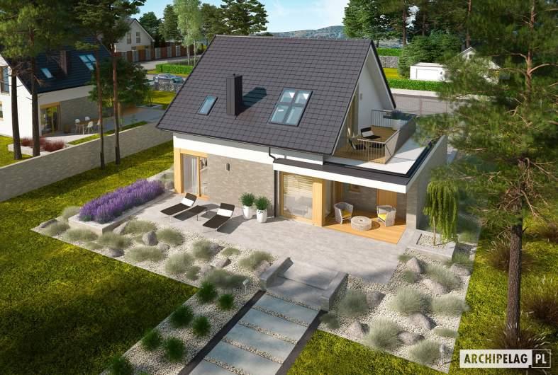 Projekt domu Mini 2 G1 - widok z góry