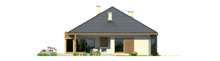 Projekt domu Margaret G2 Leca® DOM - elewacja tylna