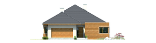 Projekt domu Margaret G2 Leca® DOM - elewacja frontowa