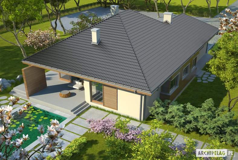 Projekt domu Margaret G2 Leca® DOM - widok z góry