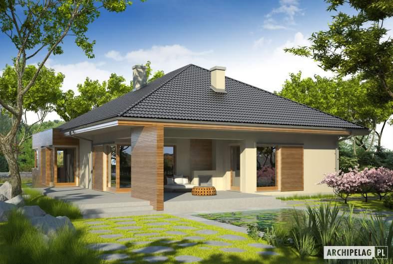 Projekt domu Margaret G2 Leca® DOM - wizualizacja ogrodowa