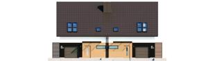 Projekt domu Lukas II G1 wersja B (bliźniak) - elewacja frontowa