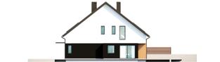Projekt domu Lukas II G1 wersja B (bliźniak) - elewacja prawa