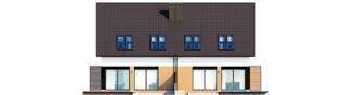Projekt domu Lukas II G1 wersja B (bliźniak) - elewacja tylna