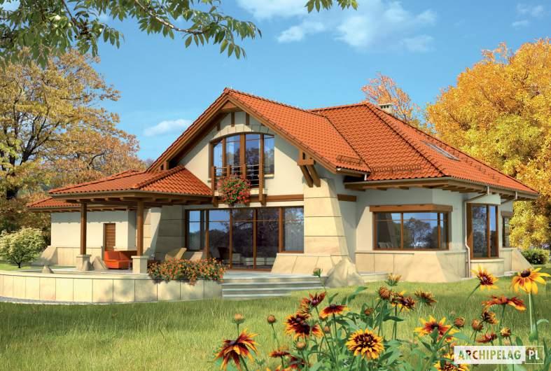 Projekt domu Edward II G2 - wizualizacja ogrodowa