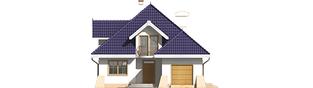 Projekt domu Salma G1 - elewacja frontowa