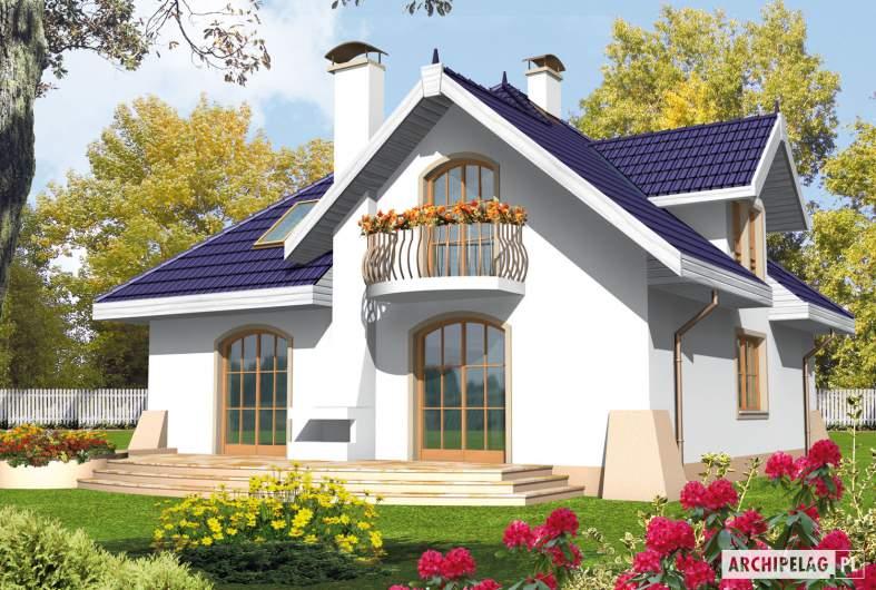 Projekt domu Salma G1 - wizualizacja ogrodowa