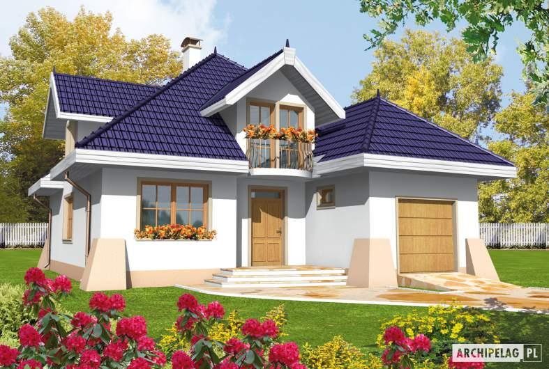 Projekt domu Salma G1 - wizualizacja frontowa
