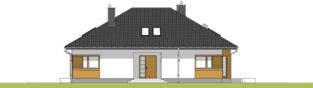 Projekt domu Marcel - elewacja frontowa