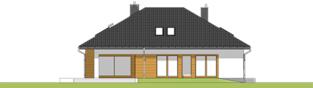 Projekt domu Marcel - elewacja tylna