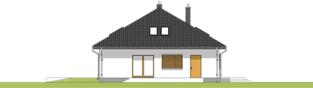 Projekt domu Marcel - elewacja lewa