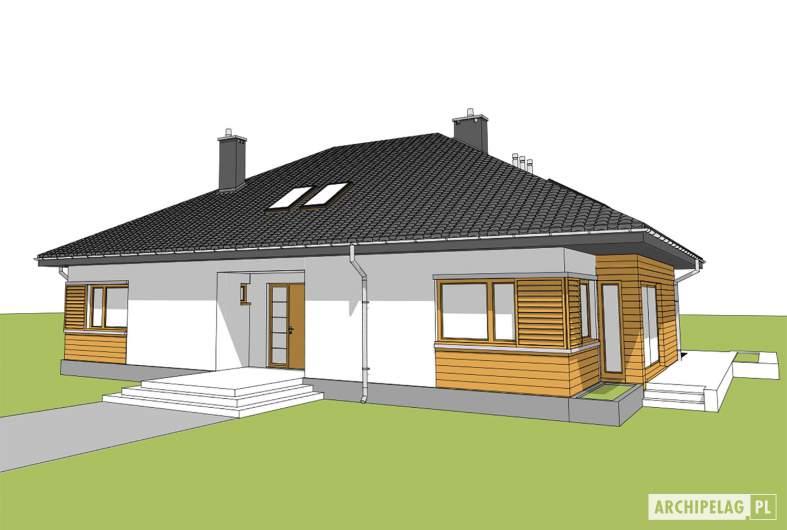 Projekt domu Marcel - widok od frontu