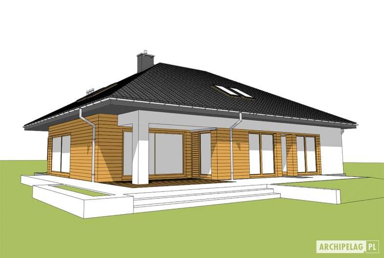 Projekt domu Marcel - widok od ogrodu