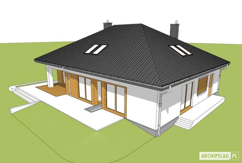 Projekt domu Marcel - widok z góry