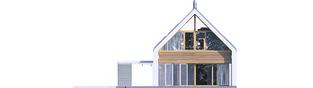 Projekt domu EX 19 II G2 ENERGO PLUS - elewacja tylna