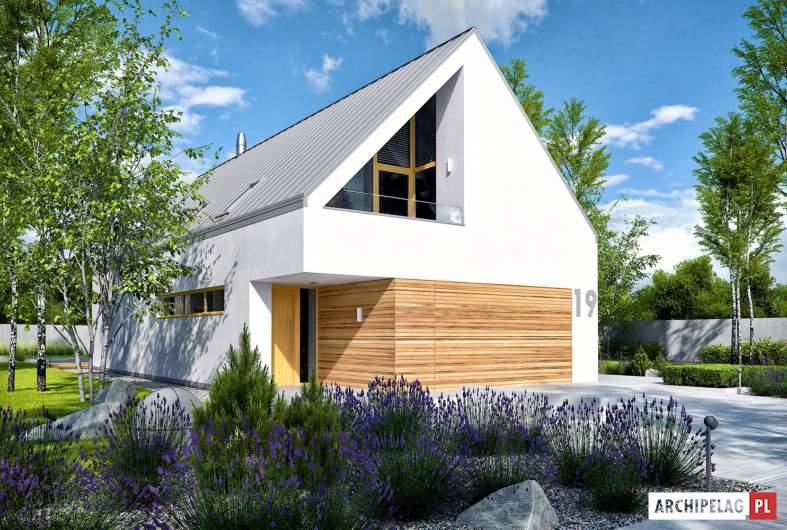 Projekt domu EX 19 II G2 ENERGO PLUS - wizualizacja frontowa