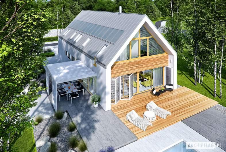 Projekt domu EX 19 II G2 ENERGO PLUS - widok z góry