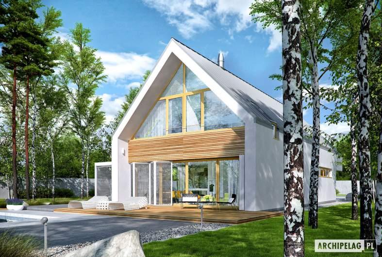 Projekt domu EX 19 II G2 ENERGO PLUS - wizualizacja ogrodowa