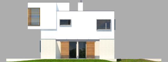 Екс 10 (Н, Енерго) - Projekt domu EX 10 (z wiatą) - elewacja prawa