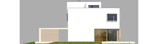 Projekt domu EX 10 (z wiatą) ENERGO PLUS - elewacja tylna