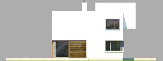 Екс 10 (Н, Енерго) - Projekt domu EX 10 (z wiatą) - elewacja lewa