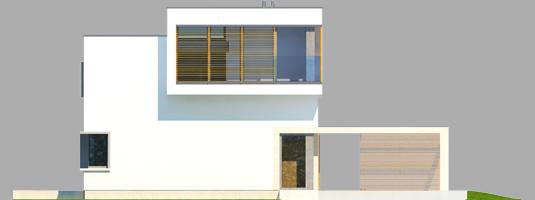 Екс 10 (Н, Енерго) - Projekt domu EX 10 (z wiatą) - elewacja frontowa