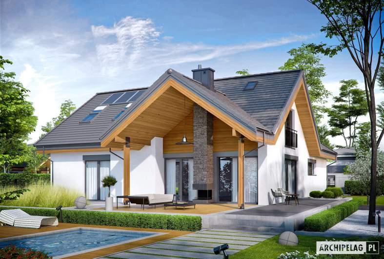 Projekt domu Simon II G2 - Projekty domów ARCHIPELAG - Simon II G2 - wizualizacja ogrodowa