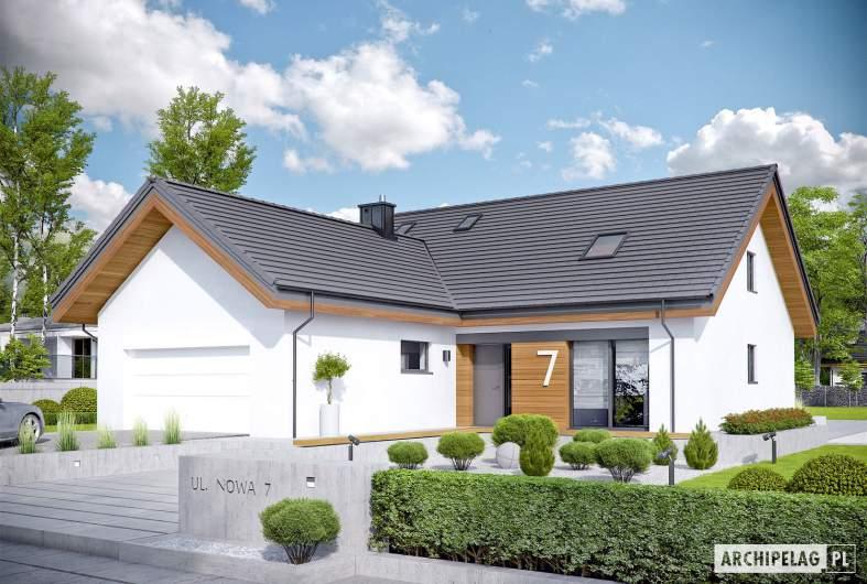 Projekt domu Simon II G2 - Projekty domów ARCHIPELAG - Simon II G2 - wizualizacja frontowa