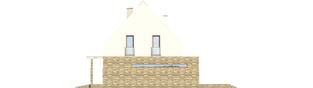 Projekt domu Gerda G1 - elewacja prawa