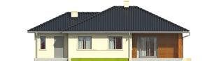 Projekt domu Manuela II G1 - elewacja tylna