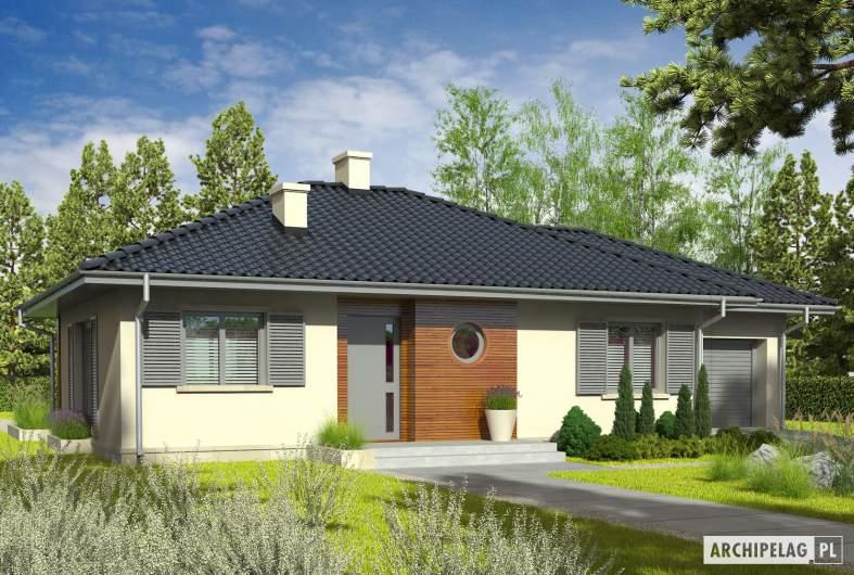 Projekt domu Manuela II G1 - wizualizacja frontowa
